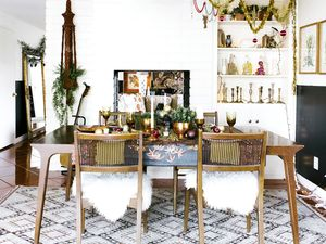 See a California-Eclectic Christmas Tablescape We Totally Envy