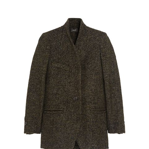 Etta Wool-Blend Tweed Coat