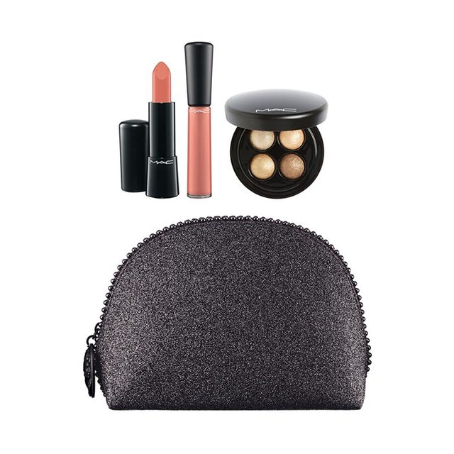 M.A.C Keepsakes Gold Lip & Eye Bag