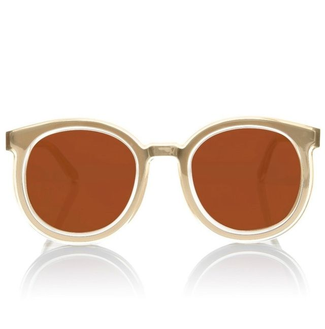 Karen Walker Super Duper Strength Gold Sunglasses