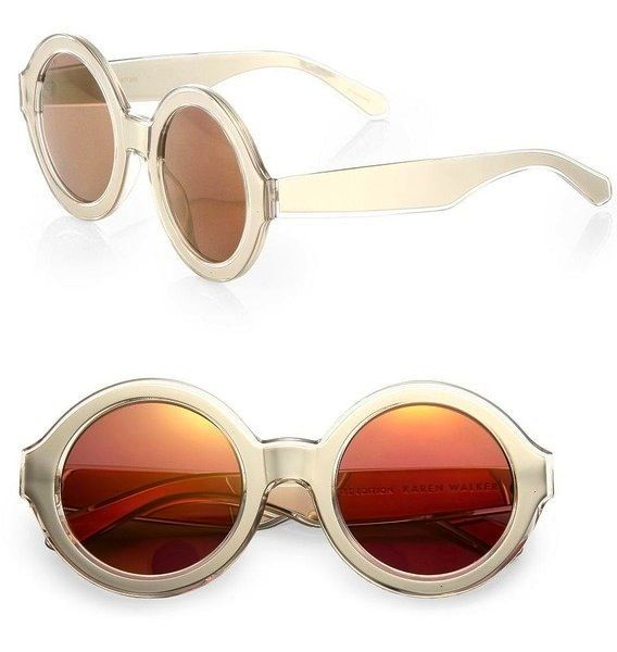 Karen Walker X-Ray Vision 49mm Round Sunglasses