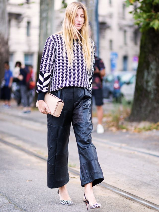 Tip of the Day: What to Wear With Baggy Leather Trousers