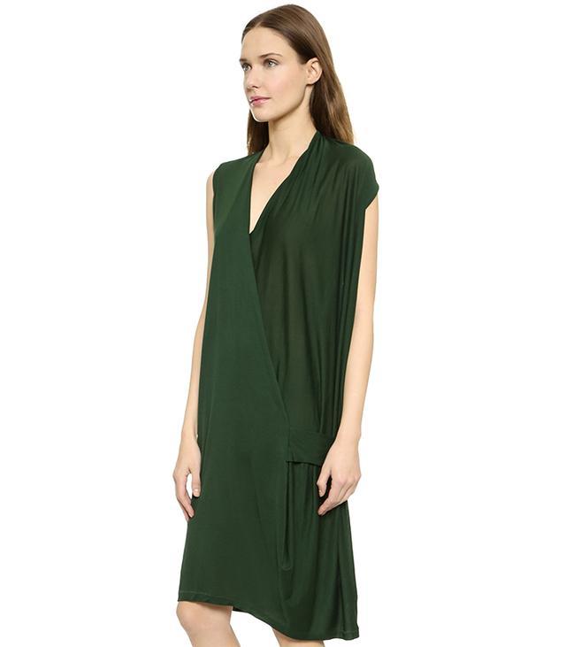 Acne Studios Natifa Tencel Draped Dress