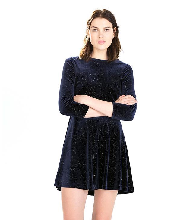Zara Shiny Velvet Dress