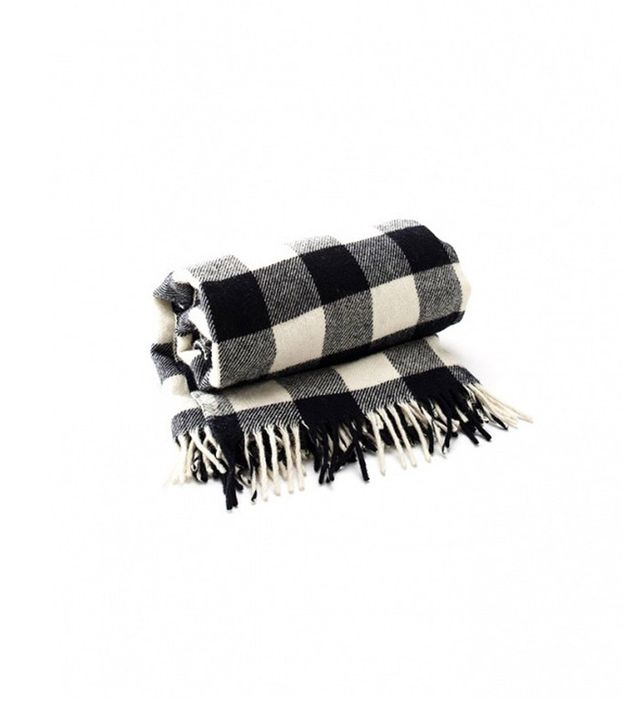 Schoolhouse Electric Buffalo Plaid Fringed Throw