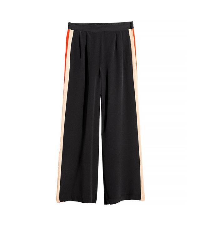 H&M Wide Leg Silk Pants