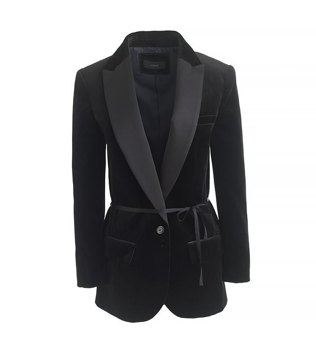 J. Crew Collection Velvet Shawl-Collar Tuxedo Blazer