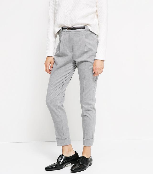 Mango Bird's Eye Trousers