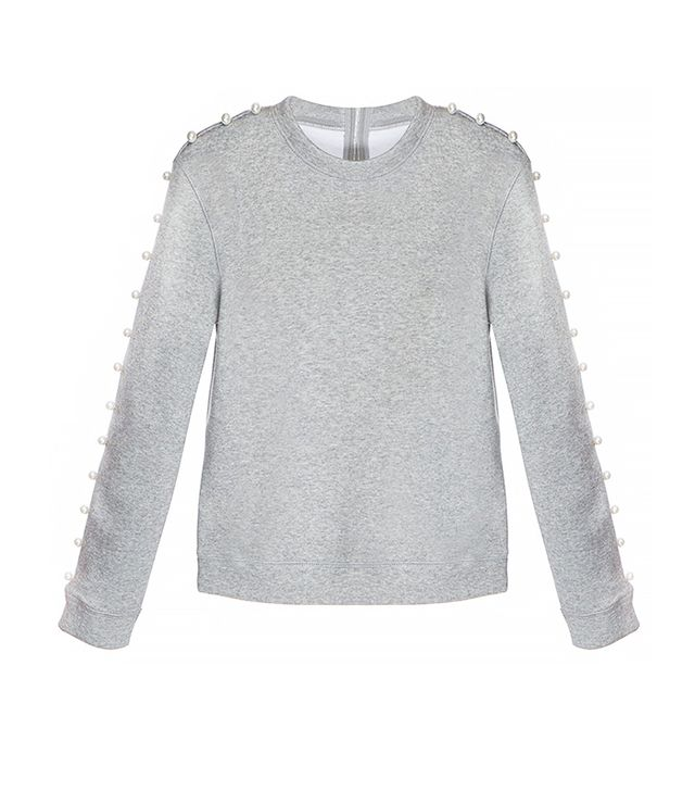 Pixie Market Pearl Out Grey Sweatshirt