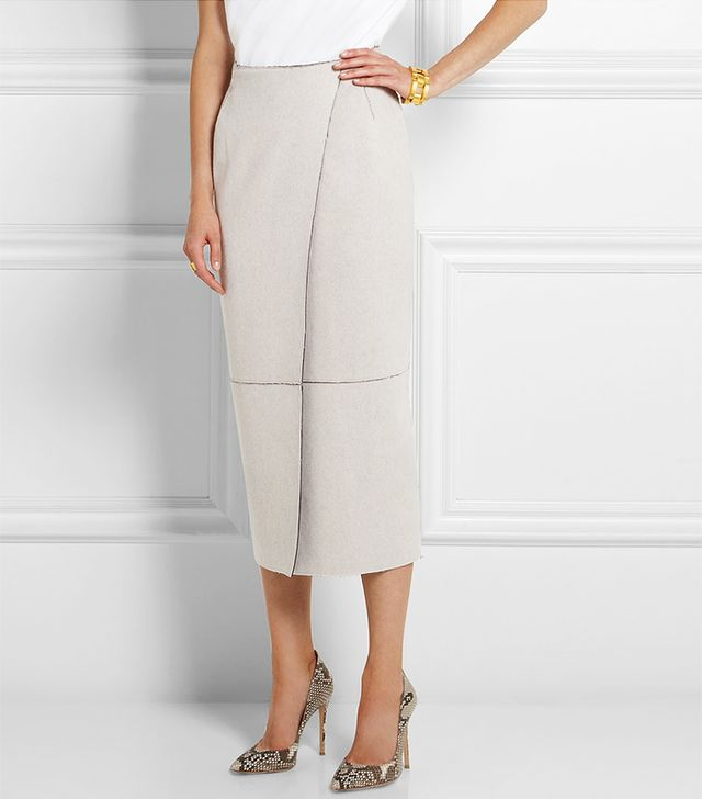 Adam Lippes Wool and Cashmere Blend Midi Skirt