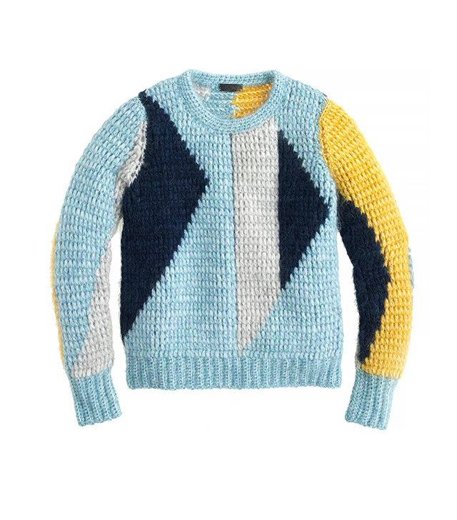 J. Crew Collection Abstract Mohair Sweater