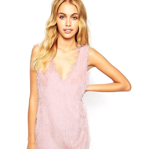 Flapper Style Dress in Fluffy Texture