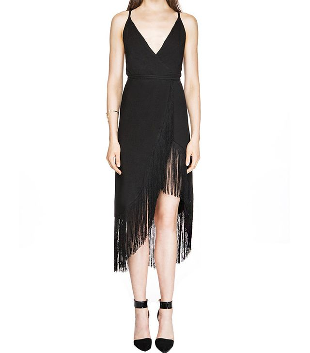 Pixie Market Last Dance Black Fringe Dress