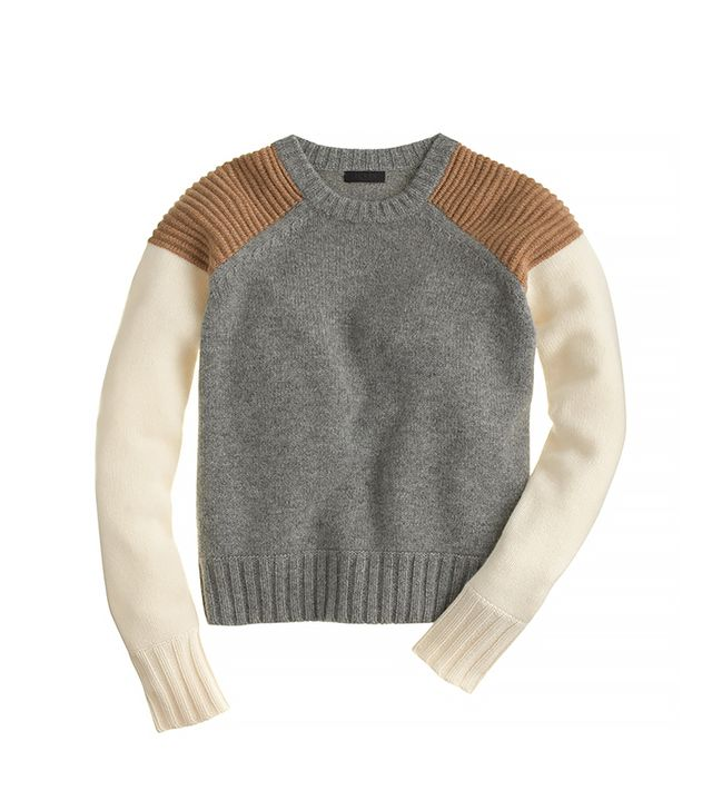 J. Crew Collection Cashmere Sweater in Colorblock