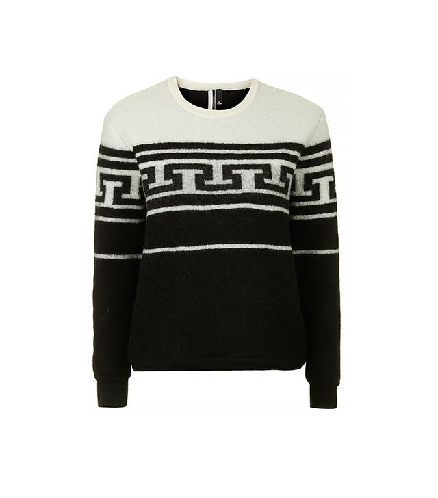 Topshop Monochrome Patterned Sweater