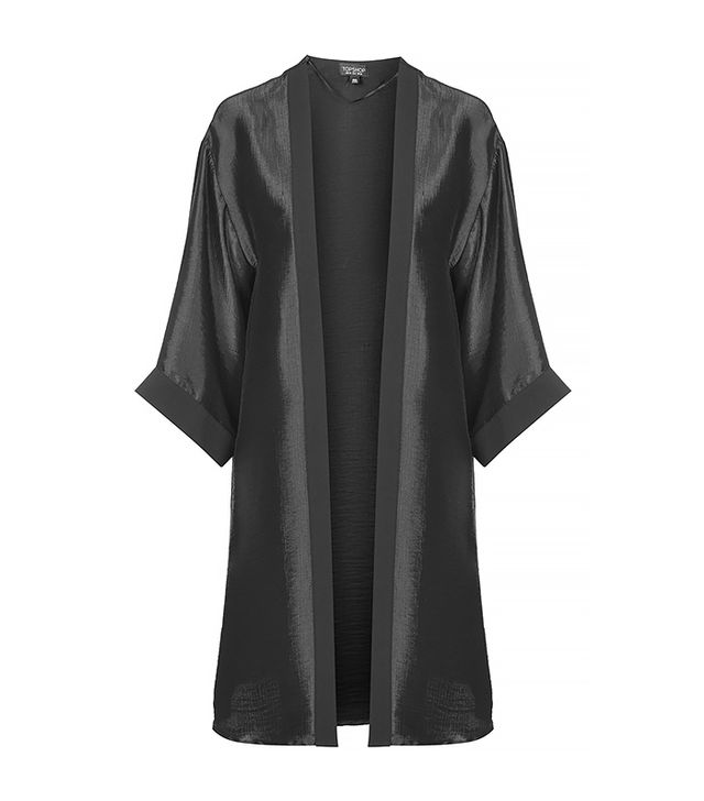 Topshop Crinkle Satin Duster Jacket