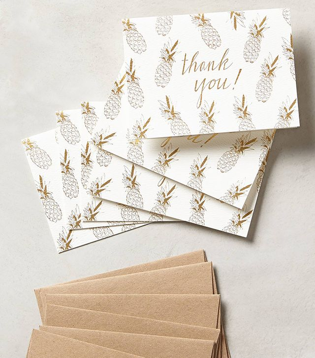 Anthropologie Pineapple Thank You Cards