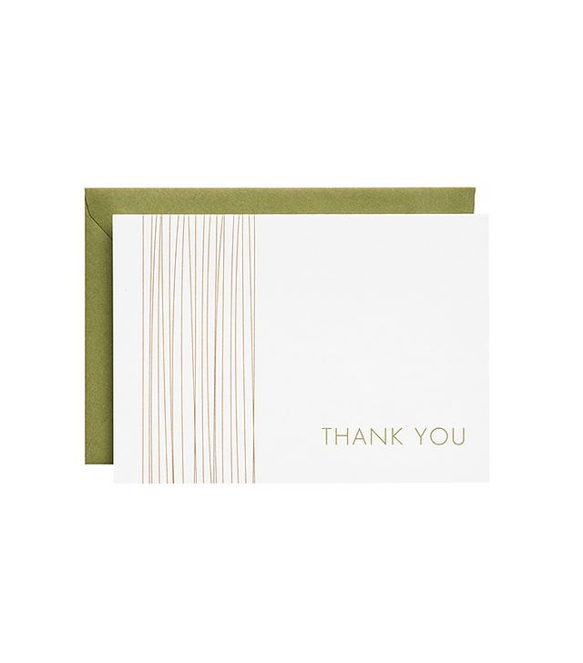 Bamboo 4 Bar Thank You Notes