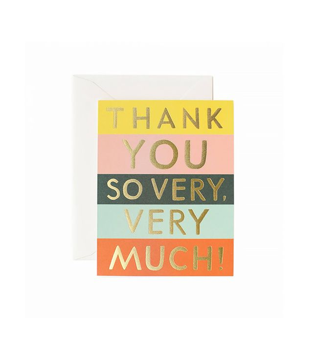 Rifle Paper Co Thank You Colour Block Greeting Card