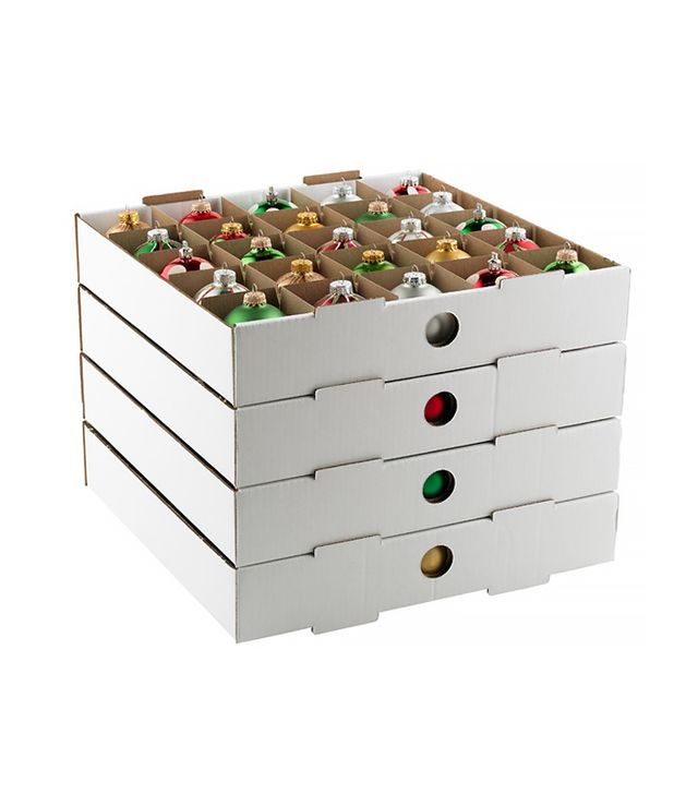 The Container Store Corrugated Small Ornament Storage Trays