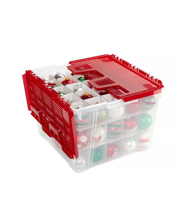The Container Store Wing-Lid Ornament Storage Box