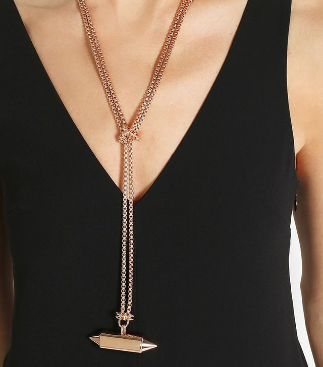 Eddie Borgo Lariat Rose Gold-Plated Necklace