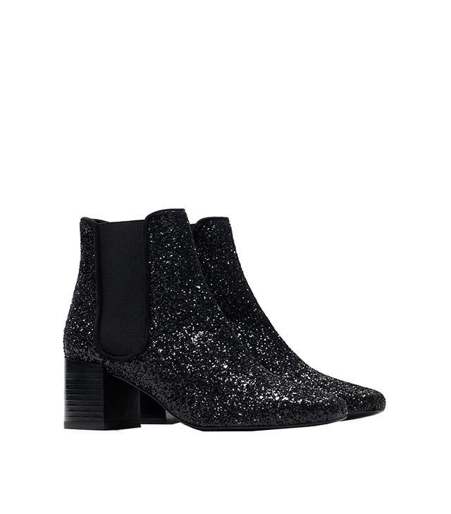 Zara Glitter Booties
