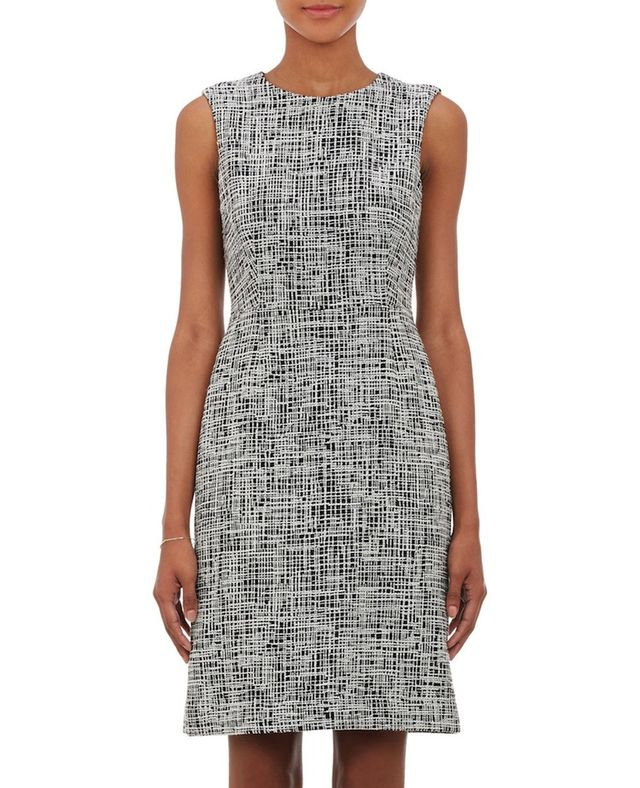 Barneys New York Tweed Sheath Dress