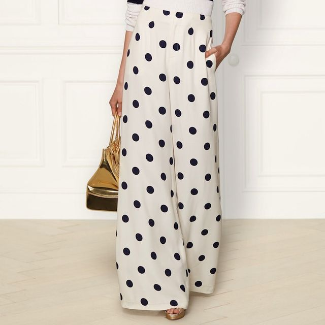 Ralph Lauren Collection Polka-Dot Courtney Pant