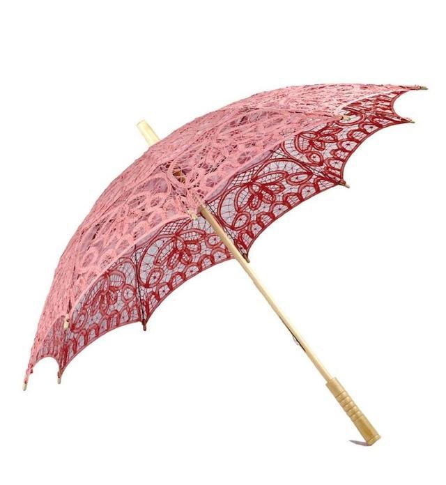 Bella Umbrella Pink Lace Parasol