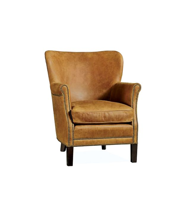 Pottery Barn Brixton Leather Chair