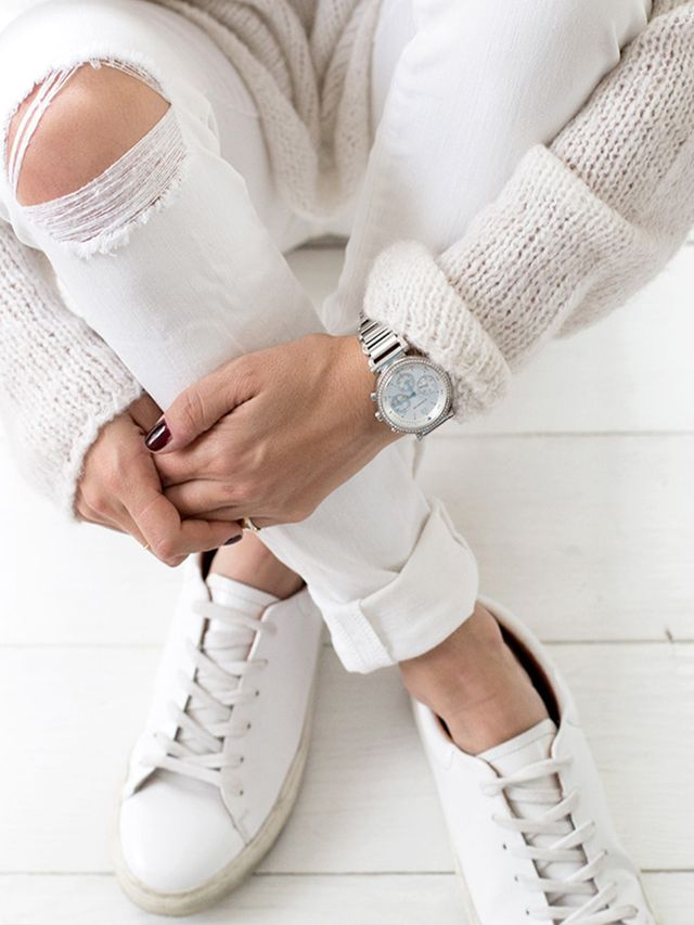 3. All-White Sneakers