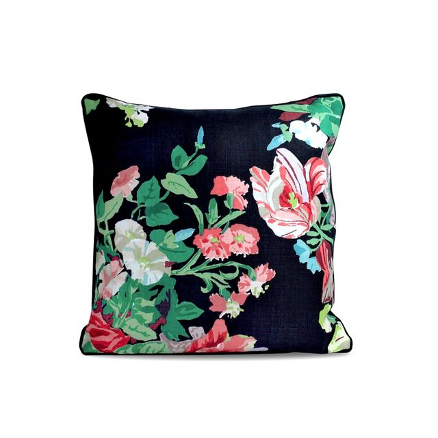Furbish Studio Black Floral Pillow
