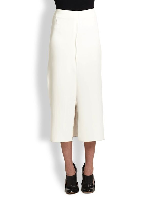 Altuzarra Stretch Crepe Slit Skirt