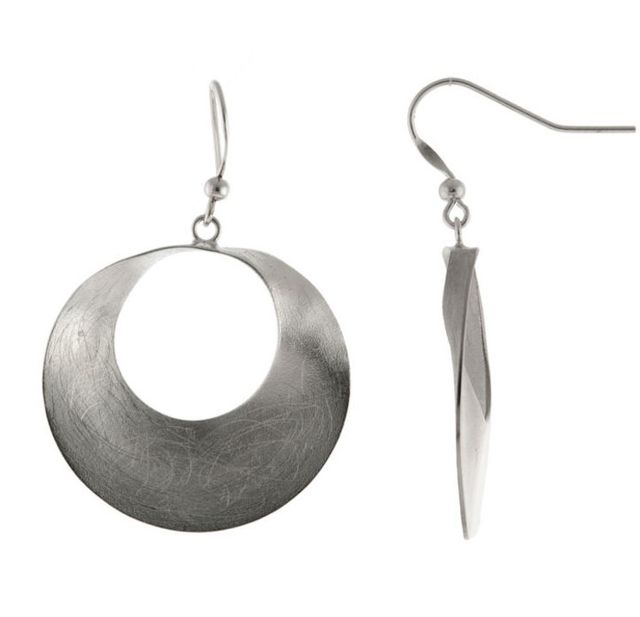 JCP Brushed Sterling Silver Drop Earrings
