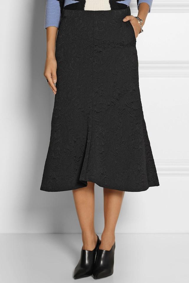 Tibi Lia Jacquard Midi Skirt