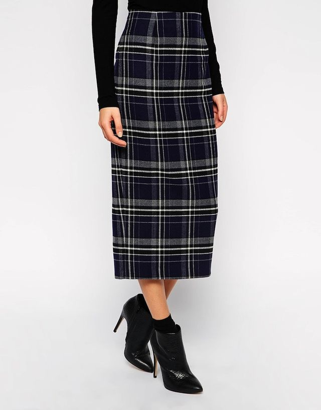 ASOS Check Pencil Skirt