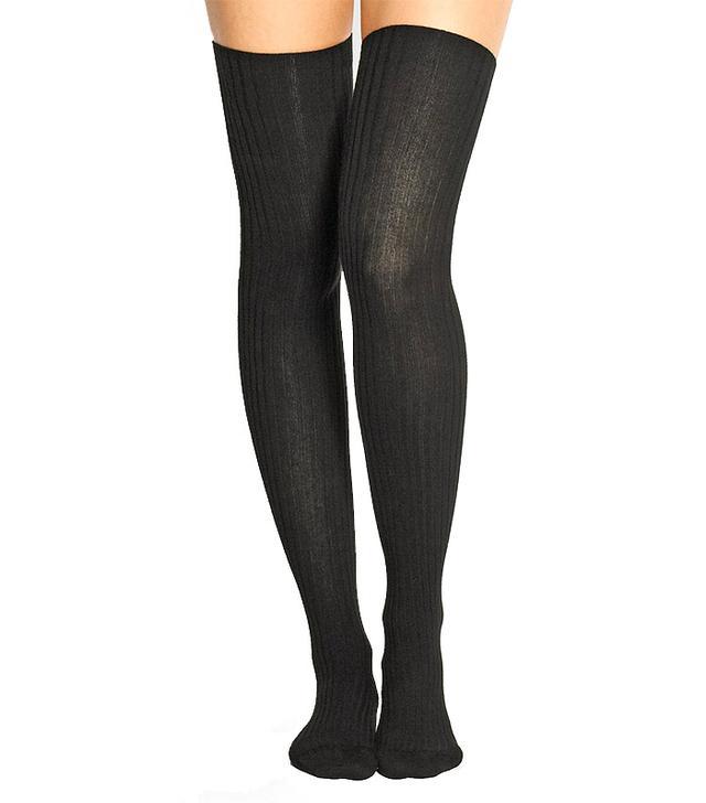 Base Range Over-the-Knee Ribbed Stretch Cotton-Blend Socks
