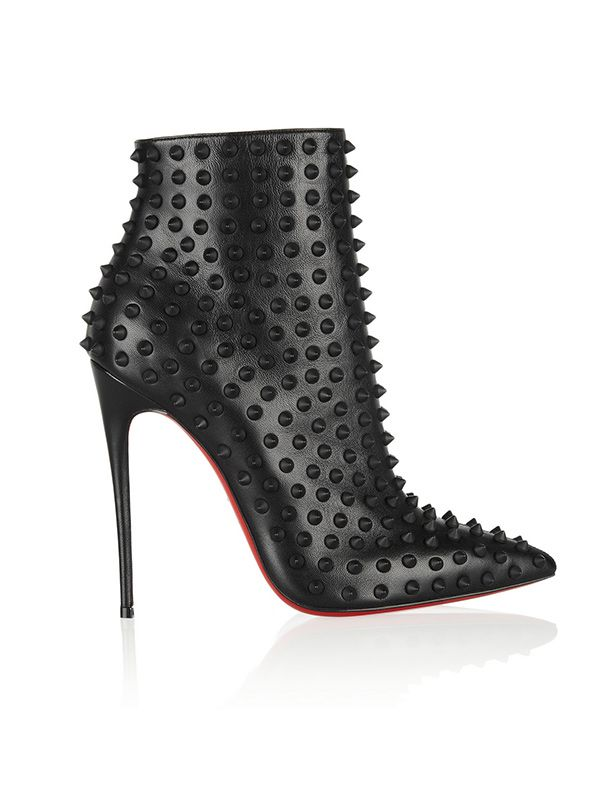 Christian Louboutin Snakilta Spiked Leather Ankle Boots