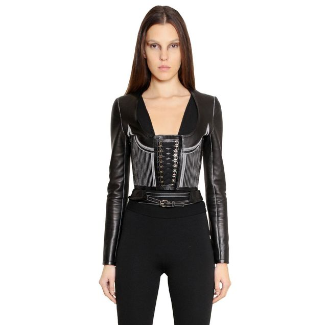 Givenchy Nappa Leather Corset Jacket