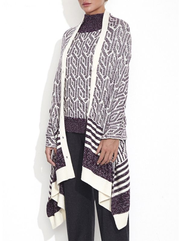 Theonne Gloria Graphic Cable Capelet