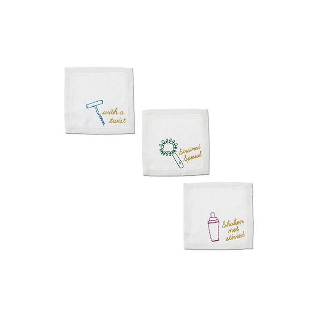 C. Wonder Embroidered Bar Cocktail Napkin Set