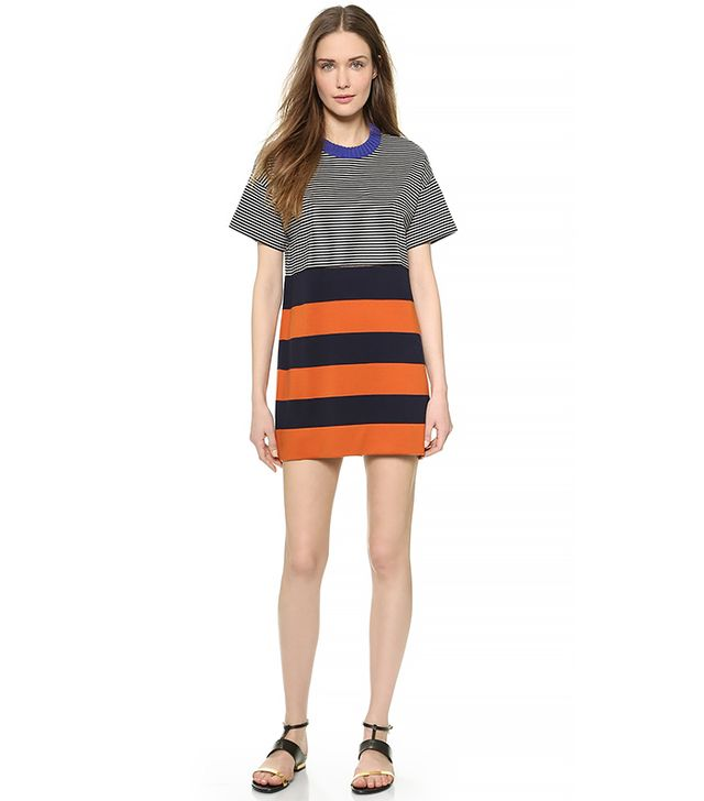Cedric Charlier Short Sleeve Mini Dress