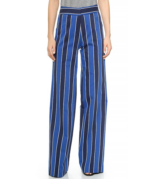 Derek Lam Wide-Leg Stripe Trousers
