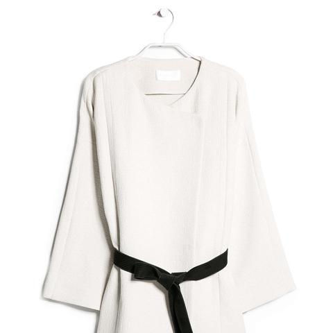 Premium Contrast Belt Kimono