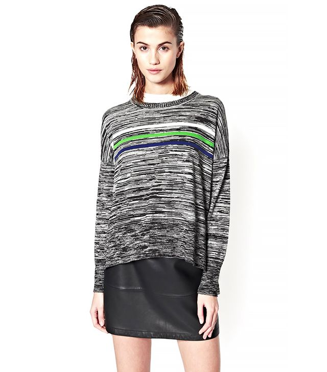 French Connection Stripe Multi Knitted Jumper