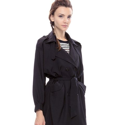 Midnight Bubble Sleeve Trench