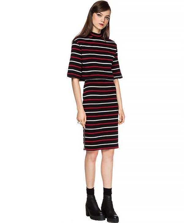 Pixie Market Chloe Stripe Two-Piece Dress