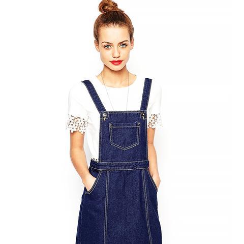 Petite Denim Pinafore Dress