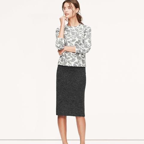 Petite Long Ponte Pencil Skirt